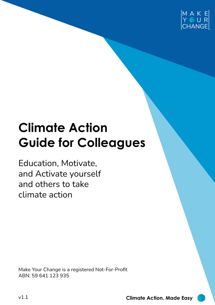 Front cover of free eBook : Climate Action Guide for Colleagues